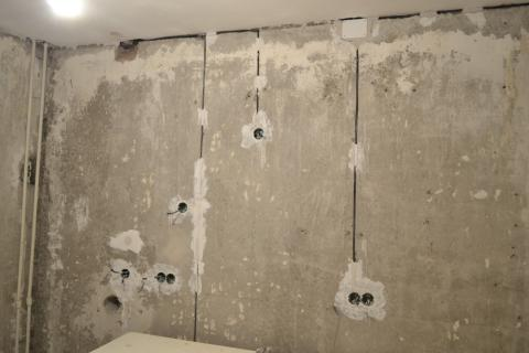 Штробление монолитных стен